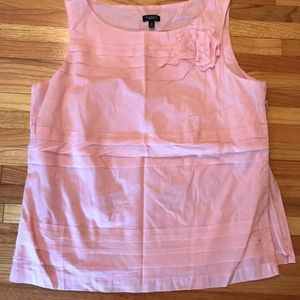 Talbots Pink Bow Blouse- NWOT
